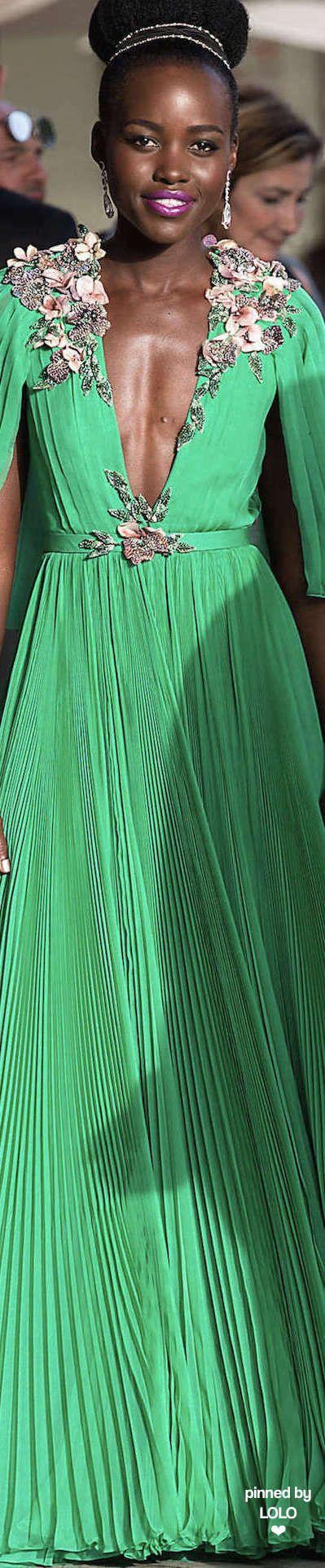 Lupita Nyong'o in Gucci 2015 Cannes Film Festival | LOLO❤︎