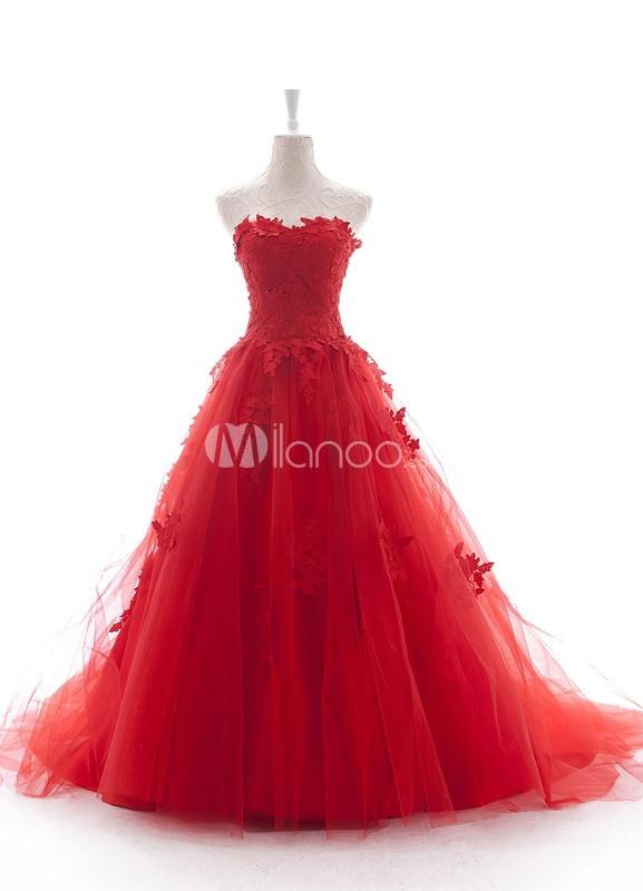 Robes De Mariée Rouges