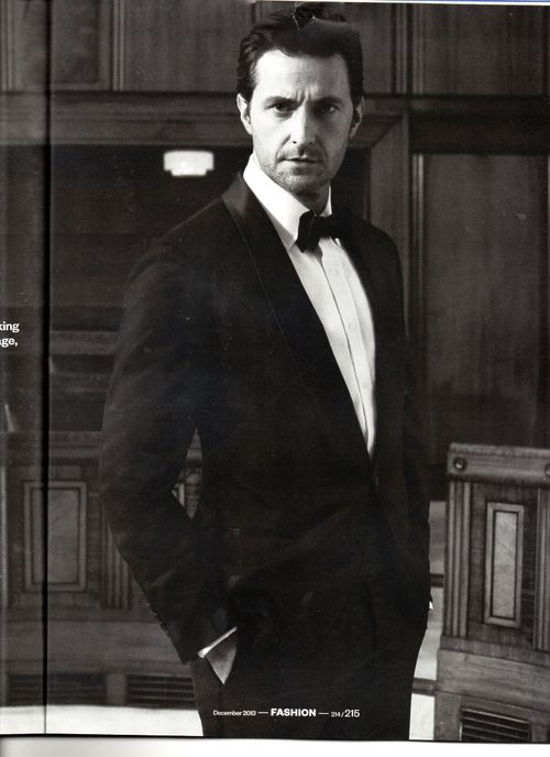 Equire Dec 2013 UK. The World's Most Handsome Man, Richard Crispin Armitage.