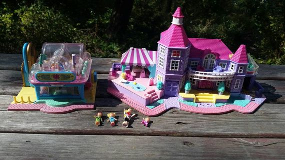 Check out this item in my Etsy shop https://www.etsy.com/ca/listing/464688494/vtg-polly-pockets-magic-mansion-and