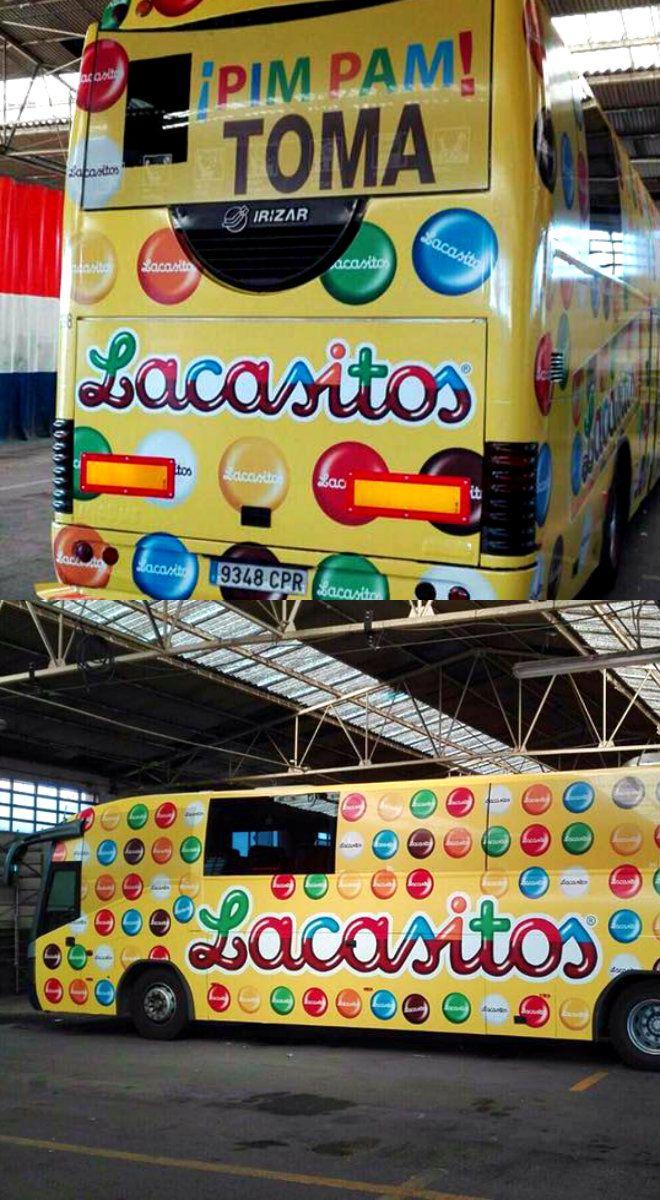 La empresa aragonesa Lacasa se ha lanzado al   Marketing exterior, ha diseñado esta publicidad en varios autobuses escolares por la ciudad de Zaragoza. ¿Ya has visto alguno?