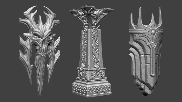 Prop sculpting, Darksiders 2 Fan Art 03, Kwono Kang on ArtStation at https://www.artstation.com/artwork/0Egy4
