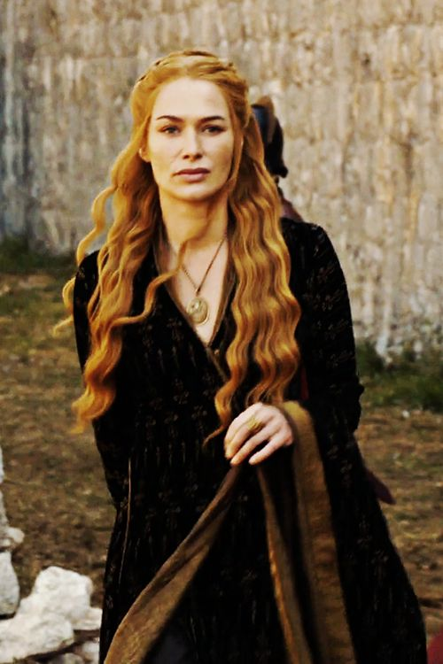 Cersei Lannister, Mockingbird and the unforgettable image of her gown swishing over a pile of human intestines. :P