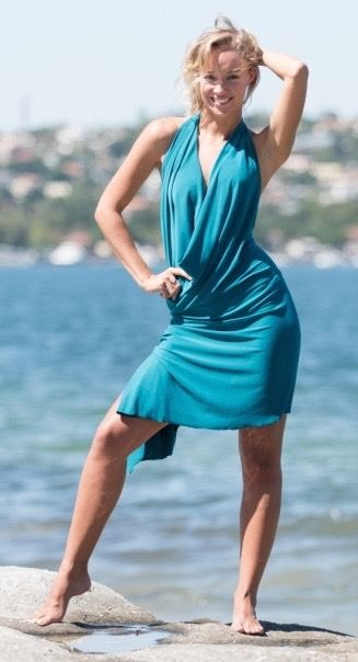 Emerald Green Backless stretch dress. Super comfortable and easy to throw on, look amazing and doesn't crease, perfect to travel with.