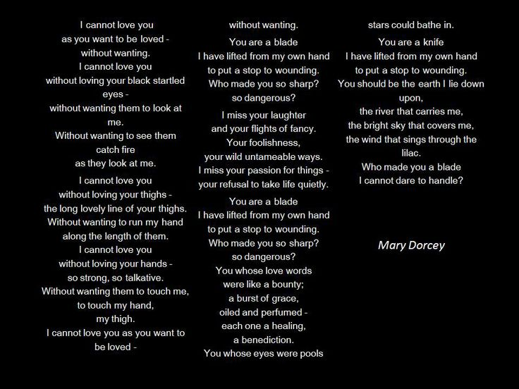 """Mary Dorcey , """"I  Cannot Love You as You Want to be Loved"""""""