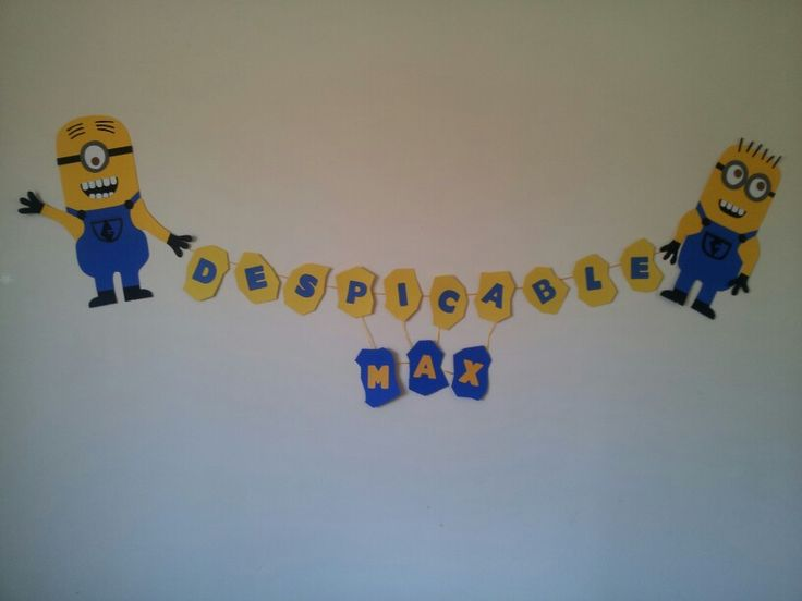 I'm so gonna MAKE this my my kid's room ! Despicable Me minion banner...DONE!