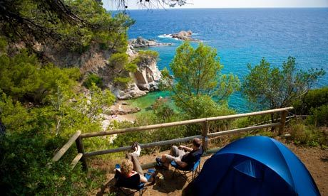 The rambling Cala Llevado campsite, spread over the cliffs of Spain's Costa Brava, gives access to four different beaches. Photograph: Punk ...