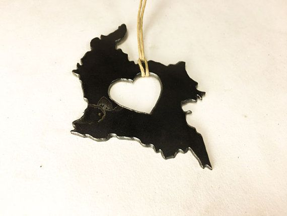 Heart Colombia Steel Ornament or Decoration by IronMaidArt on Etsy