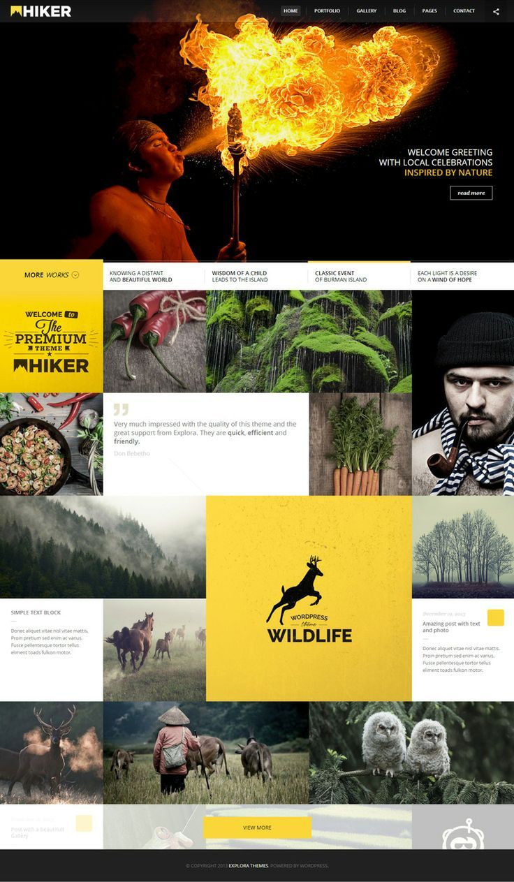 WORDPRESS THEME FOR PHOTOGRAPHERS – HIKER