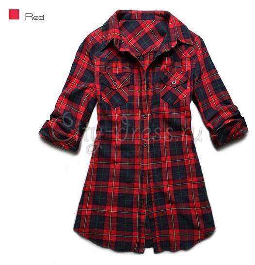 Купить заказать клетчатая рубашка женская