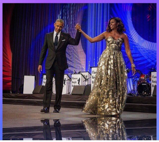 Stunning First Couple of US: President Barack Obama & First Lady Michelle Obama. #CBCFALC16  9/17/16