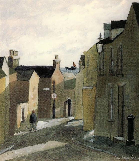 John Knapp-Fisher: Cresswell Street, Tenby 1998