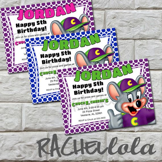 23 best birthday's - chuck e cheese images on pinterest | chuck e, Birthday invitations