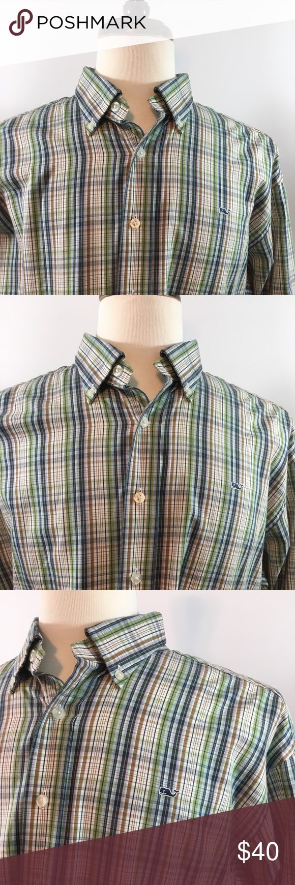 Vineyard Vines XL Whale Shirt Multicolored Vineyard Vines XL Multicolored Whale Shirt. In very good pre used condition free of any rips or stains and from a pet free and smoke free home.. Long sleeves and made from 100% Cotton. Thanks for looking, please check out bundles rates! Vineyard Vines Shirts Casual Button Down Shirts