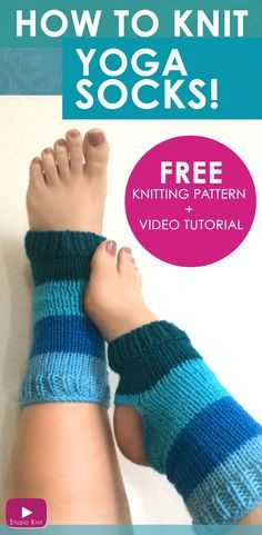 How to Knit Yoga Socks with Free Knitting Pattern + Video Tutorial by Studio Knit via @StudioKnit