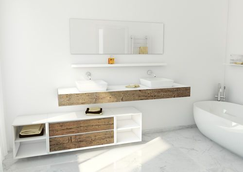 Contemporary bathroom / reclaimed material / in wood 2266-200A + varie BIANCHINI & CAPPONI