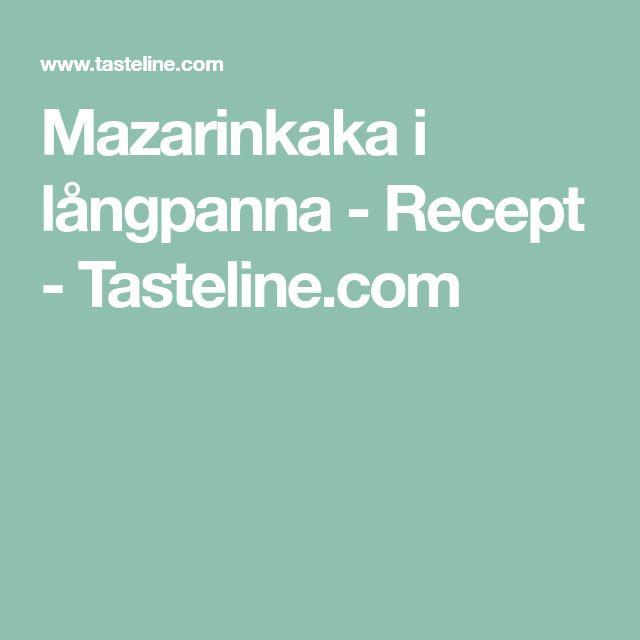 Mazarinkaka i långpanna - Recept - Tasteline.com