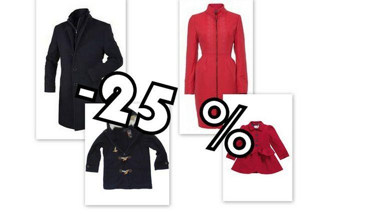 Rabat na płaszcze -25% w dniu otwarcia sklepów :)