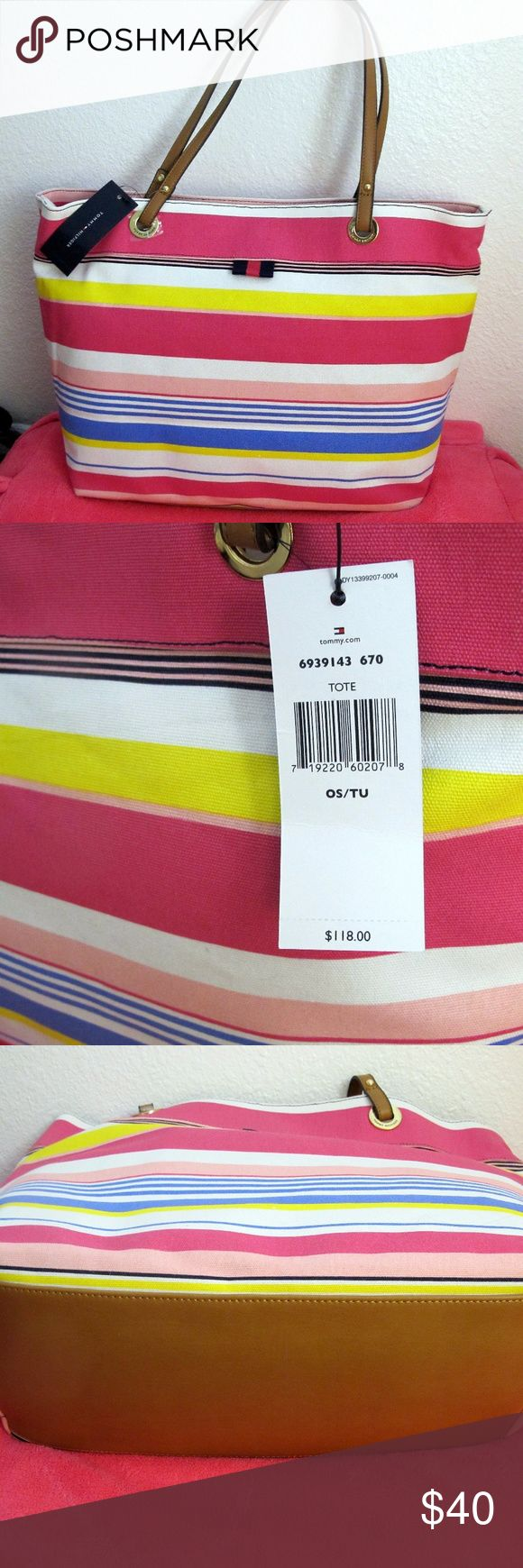 Tommy Hilfiger Tote NWT NWT Tommy Hilfiger Tote Bright beautiful colors same day shipping Tommy Hilfiger Bags Totes