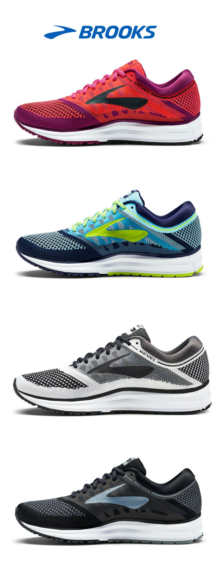 The Revel | Running Shoes from Brooks Running | Styled to go anywhere, the women's Revel running shoe is our most comfortable shoe on foot.