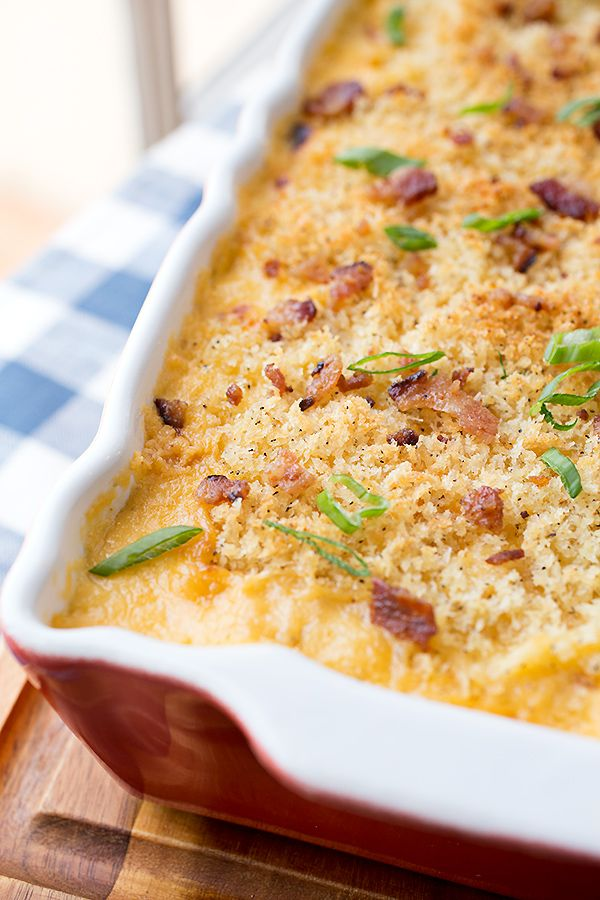 Creamy Mac n' Cheese with Cauliflower & Apple-Smoked Bacon | Recipe