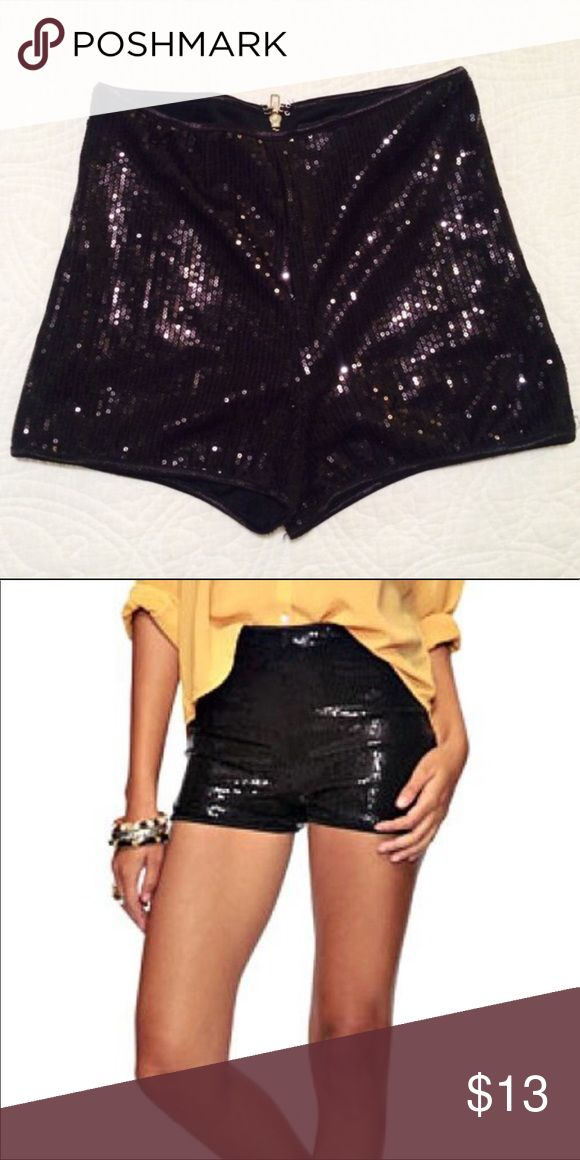 Forever 21 black sequin shorts Size small Stunning and perfectly in tact. Worn once for NYE and have been sitting. It's time for them to have a new home. Forever 21 Shorts