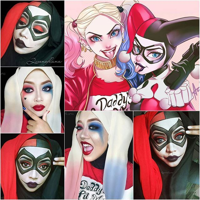 For those still asking for Harley Quinn's makeup... There, my Harley Quinnssssssssss. ♦♣♥♠ Modern Harley I did back in January. Classic Harley is from last year.  Fanart cred: alanscampos . . . . . . #suicidesquad #suicidesquadmovie #margotrobbie #harleyquinn #harlequin #harleenquinzel #dccomics #dcuniverse #antihero #supervillain #puddin #gothamcitysirens #marvelvsdc #harleyquinnmakeup #harleyquinncosplay #clownmakeup #cosplayer #malaysianmakeupartist #queenofluna