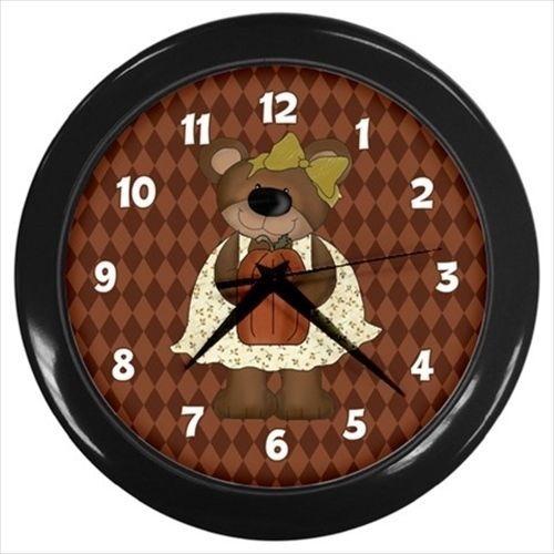 Autumn Bear Wall Clock