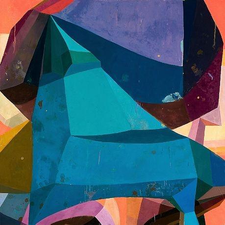 Deborah Zlotsky   Untitled 4, Adjacent Possibilites series,2010   Oil on canvas  36 X 36 inches