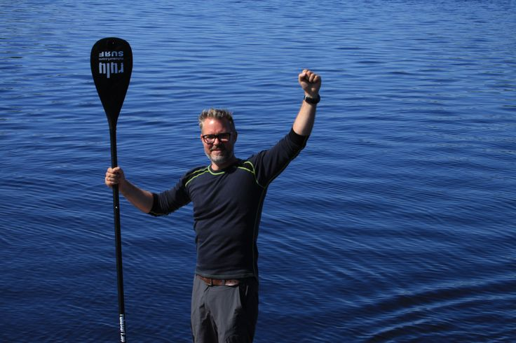 Well Jarle are you happy too, 3 days with 7 hours a day on a Sup board has come to an end