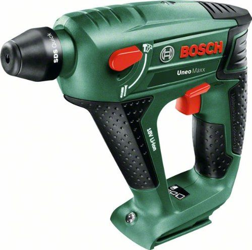 Bosch DIY Akku-Bohrhammer Uneo Maxx, ohne Akku, Karton (18 V, 2,5 Ah, Max. Bohr-� Stahl: 8 mm, Beton: 10 mm, Holz: 10 mm)