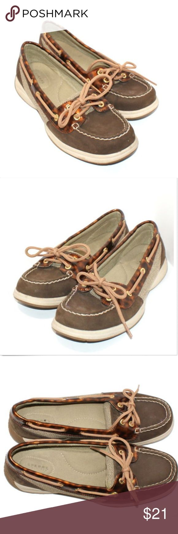 SPERRY TOP-SIDER Womens 8M Brown Leather Boat Shoe SPERRY TOP-SIDER Womens 8M Brown Leather Boat Shoes Sperry Shoes Flats & Loafers
