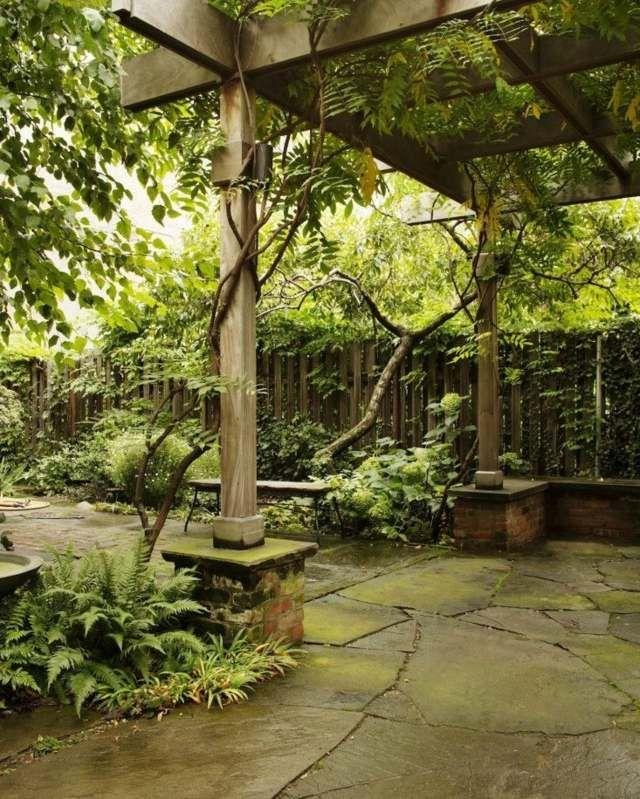 am nager un jardinet dans une cour int rieure art des. Black Bedroom Furniture Sets. Home Design Ideas