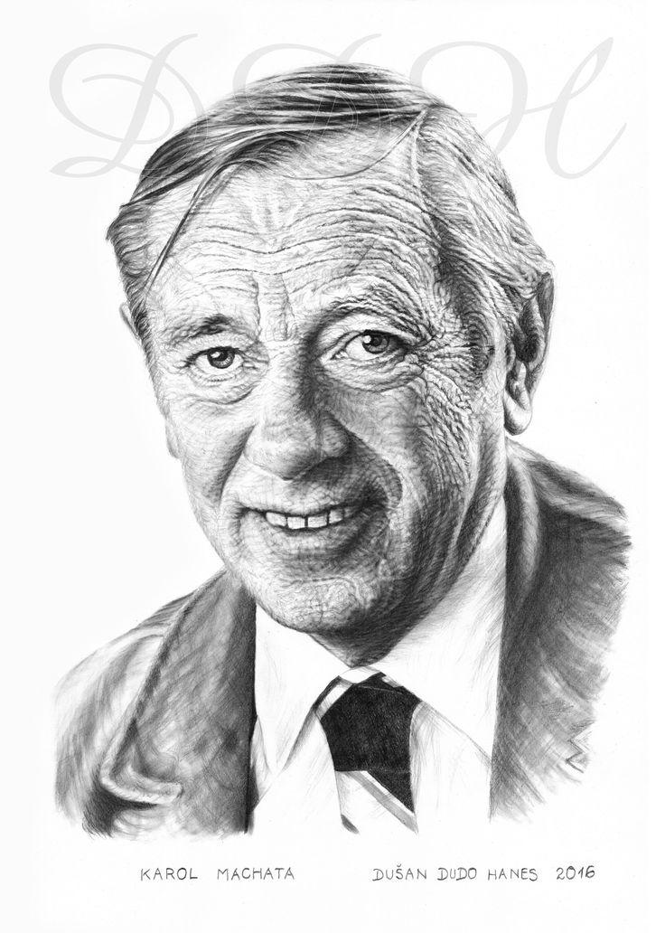Karol Machata, portrét Dušan Dudo Hanes