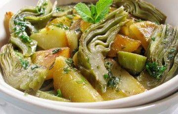 Carciofi e patate aromatici