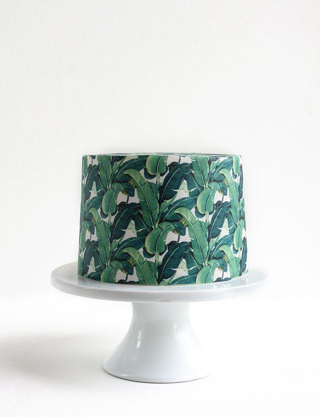 Tropical Wallpaper Cake!