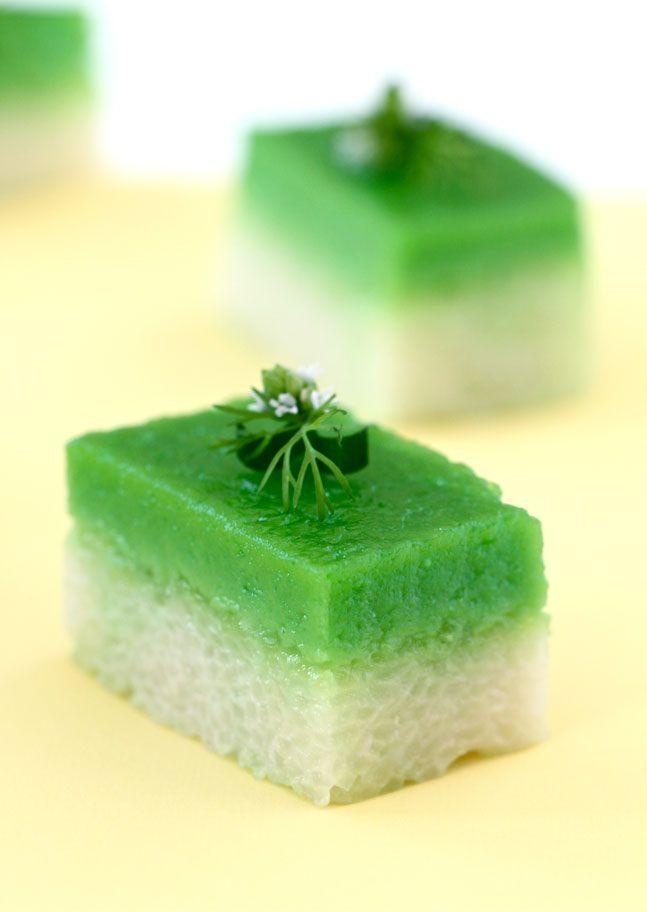 Kuih Seri Muka / Layer Savory Sticky Rice and Sweet Custard Recipe (Elra's Cooking)