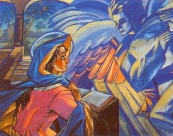 Stryjeńska z aniolem