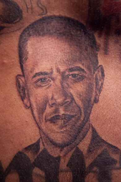 39 best obama tattoo on face images on pinterest barack for Does obama have tattoos