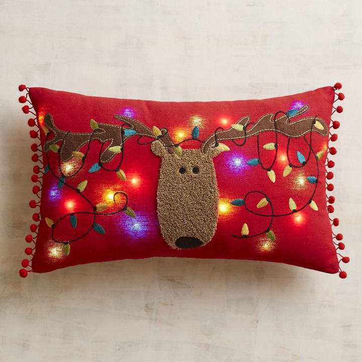 LED Light Up Reindeer Musical Pillow. Why Drive Around Your Neighborhood To  Look At Christmas Lights? With Our Light Up Reindeer Pillow, Youu0027ll Enjoy  ...