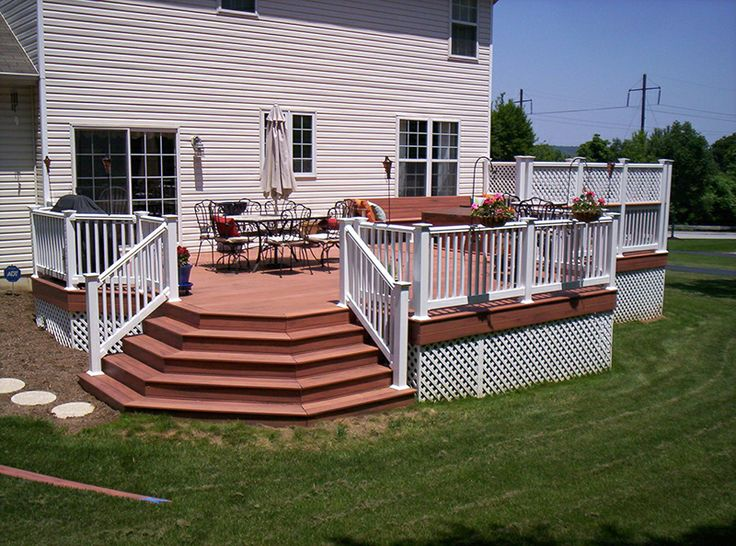 Porch Deck Designs | White Wooden Front Porch Railing Designs