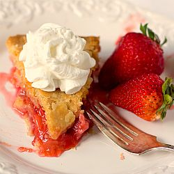 Strawberry-Rhubarb Pie. An old favorite from the days my Dad grew rhubarb in his backyard garden.
