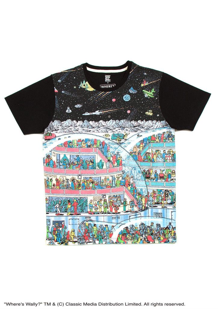 Where's Wally Short Sleeve(Space Wally) – Design Tshirts Store graniph