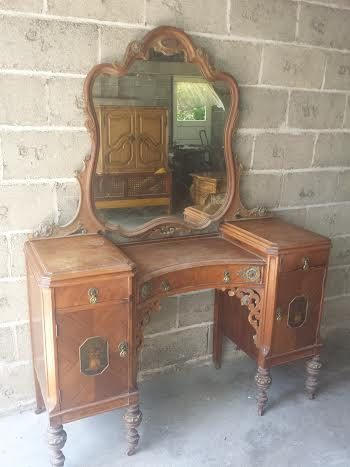 Gorgeous Ornate Carved Antique Vanity  Beautiful by Brielity, $795.00