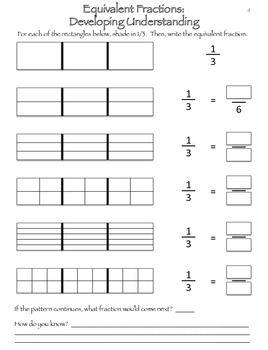 Good way to help develop a true understanding of equivalent fractions!