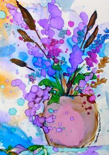 How to Paint with alcohol inks | Alcohol Inks on Yupo