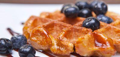 Bel-Gaufre blueberry topped Belgian waffle