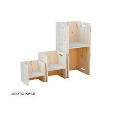 Con el pack podrás hacer diferentes combinaciones y darle uso durante mucho tiempo: 1. Utiliza la silla grande como mesa para el bebé a partir de 6...