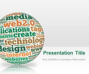 Free Web PowerPoint Template - free web 2.0 powerpoint template, #SOLOMO #template or ppt template for social media, web 2.0 internet presentations and communications, #Microsoft PowerPoint 2013, #marketing presentations, #technology presentations