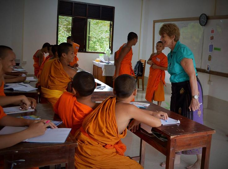 Some of our volunteers teach at a beautiful temple school thirty minutes outside of Luang Prabang.   #gvi #teachabroad #volunteer